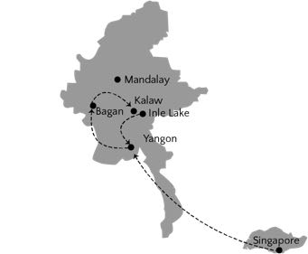 myanmar and Singapore Itinerary 2 weeks