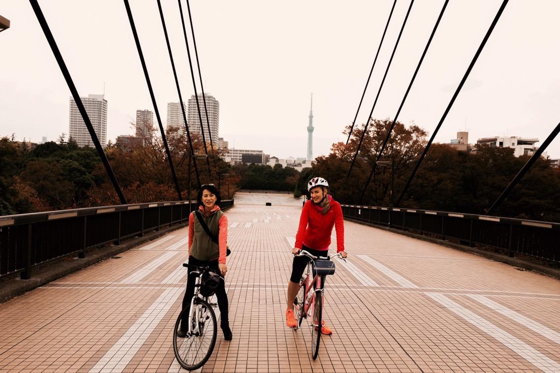 biking in Japan Tokyo