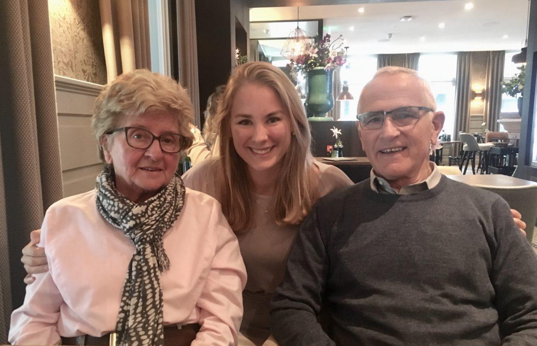 Lunch met opa en oma