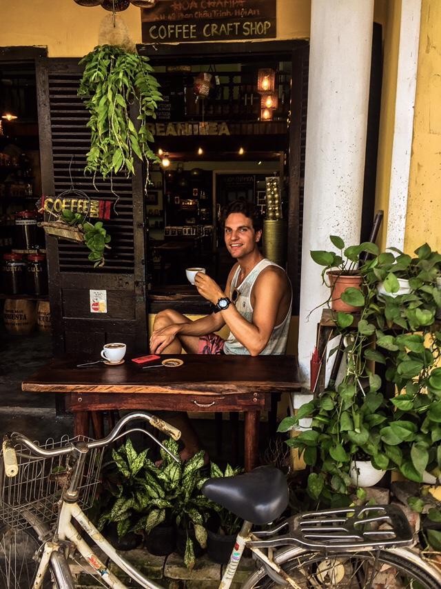 Vietnam: Ook een aanrader, de koffie en chocolade bij de Coffee Craftshop!