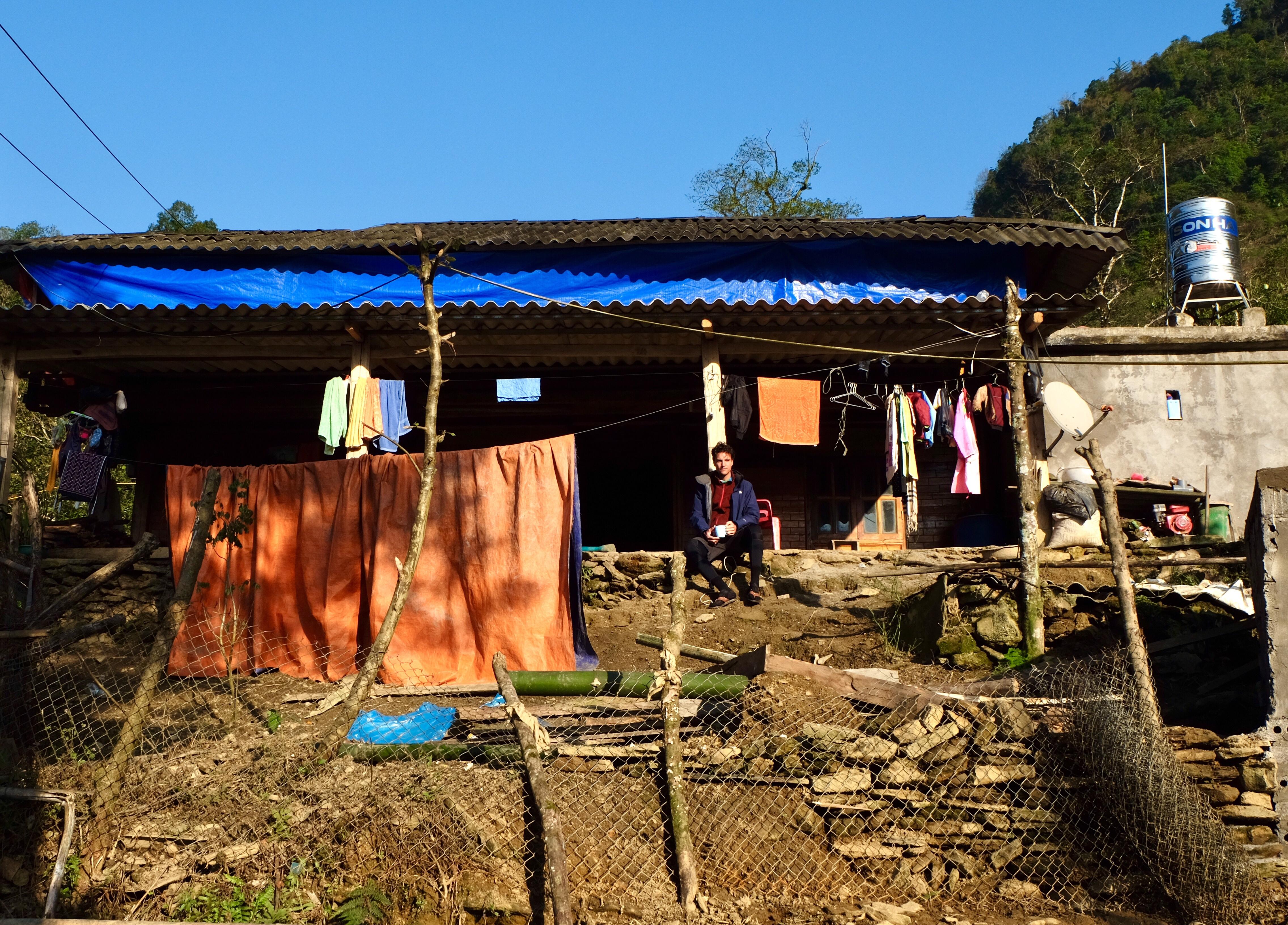 Vietnam: De homestay waar we in geslapen hebben