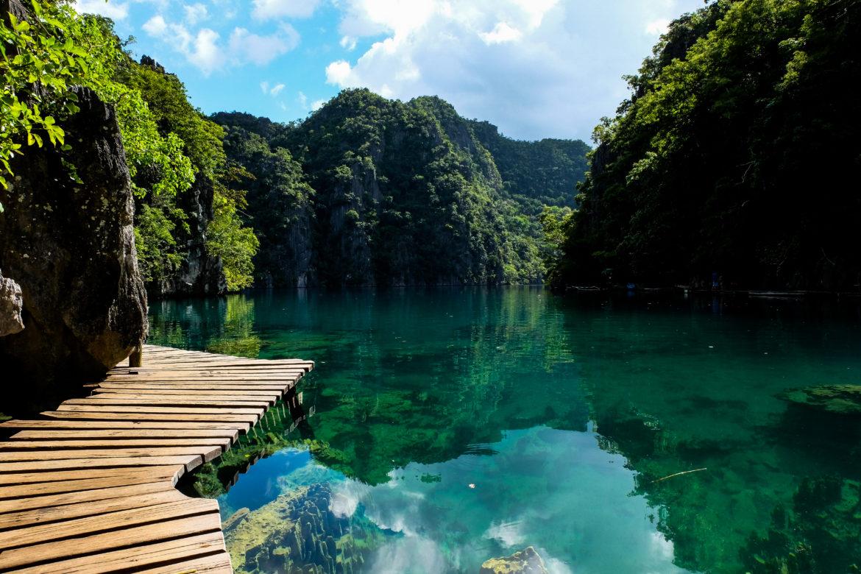 Filipijnen: Het kristal heldere Kayangan Lake