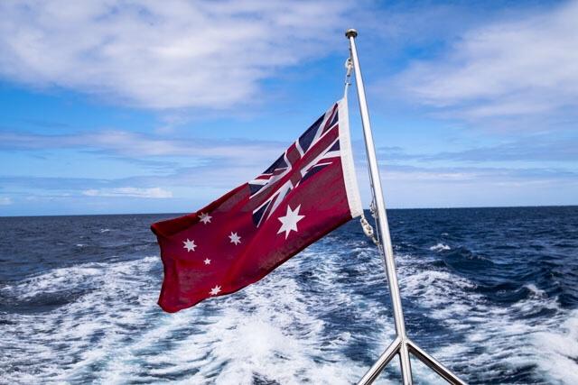 Australian Flag Boat