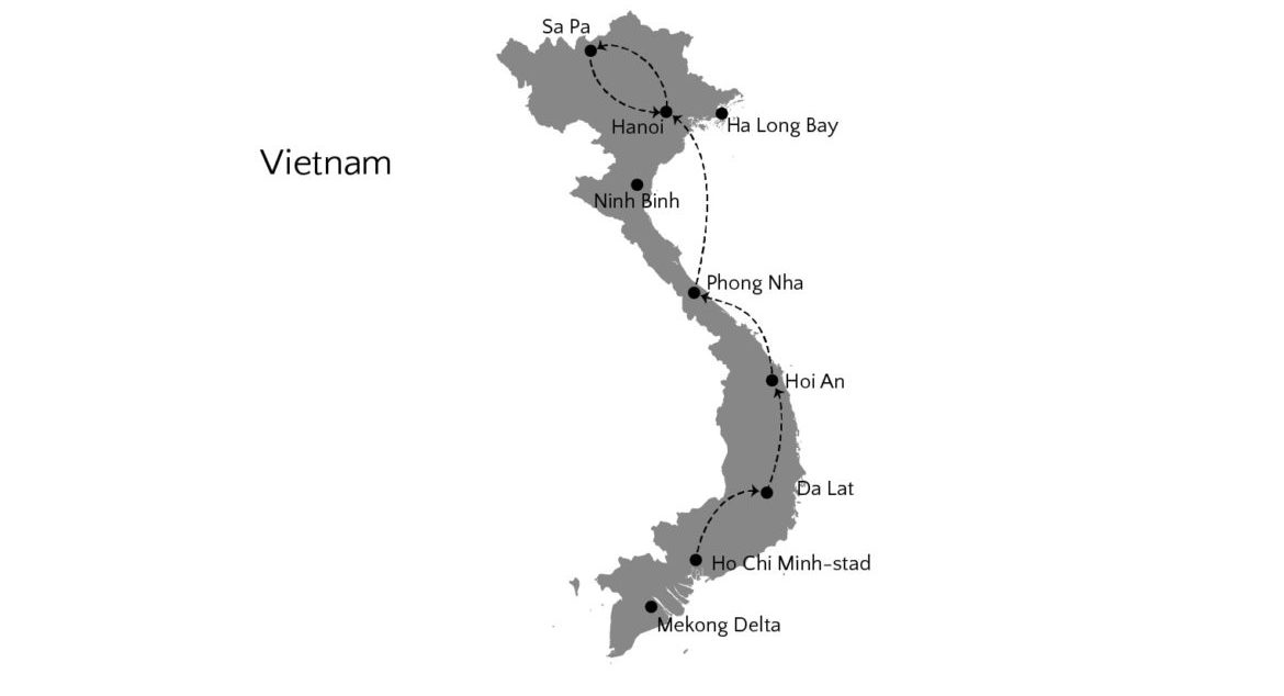 vietnam travel route map-01