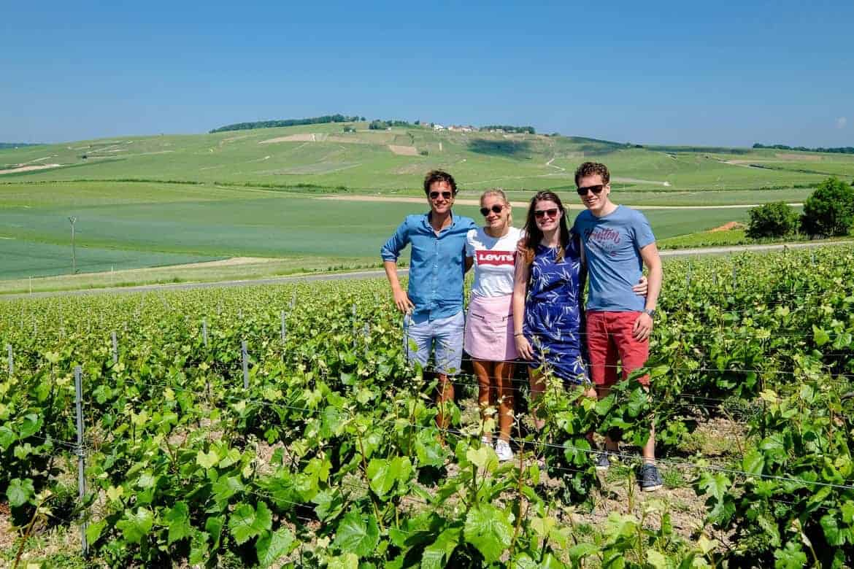 Champagne region France Friends vineyard