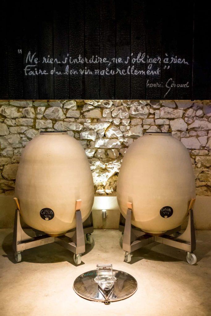 Champagne region France Eggs Henri Giraud vineyard