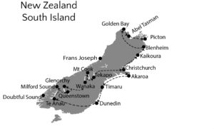 New Zealand itinerary Southern Island
