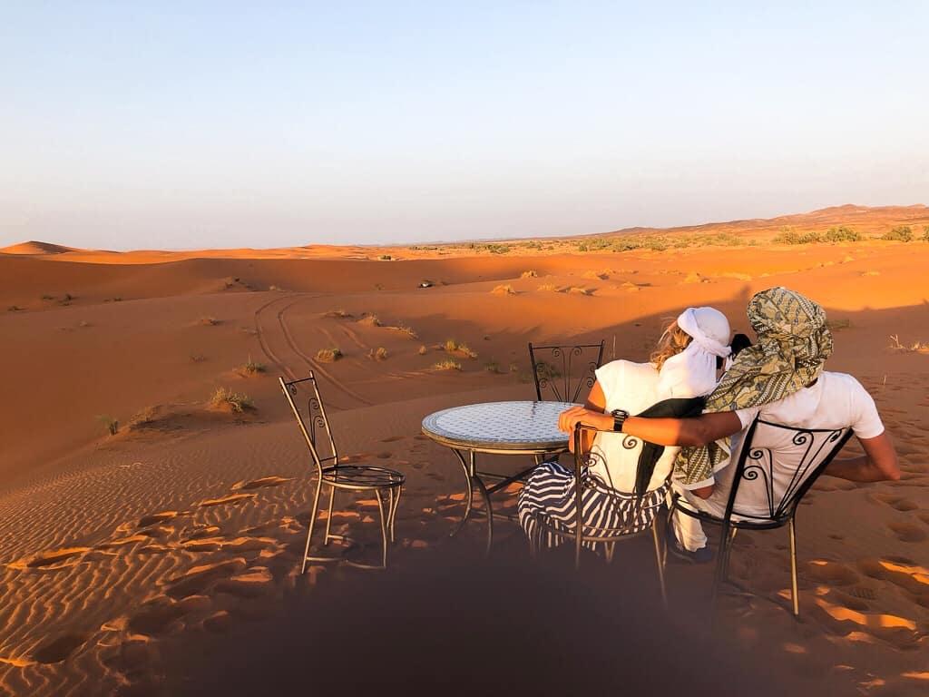 Morocco merzouga desert cameltrip picnic