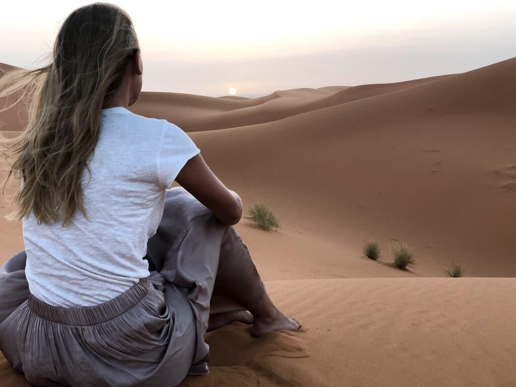 Morocco merzouga desert cameltrip sunrise