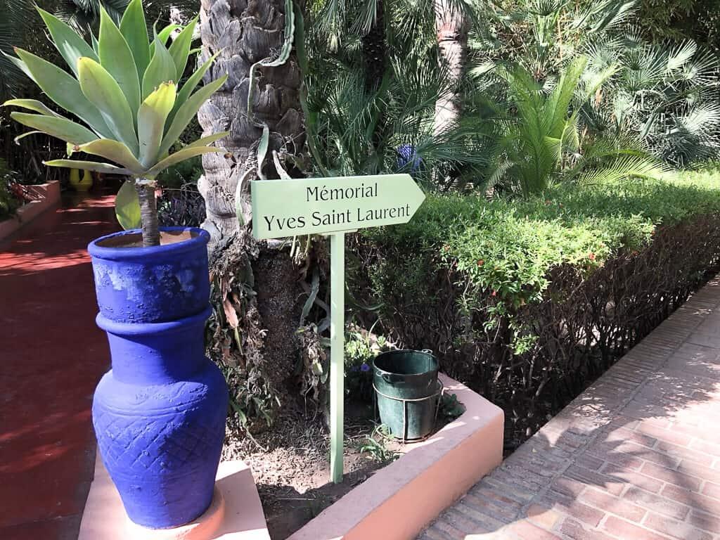Morocco Marrakech YSL