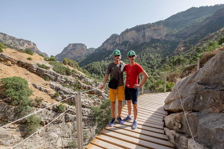 Spain; Camino Del Rey Daan en Ries