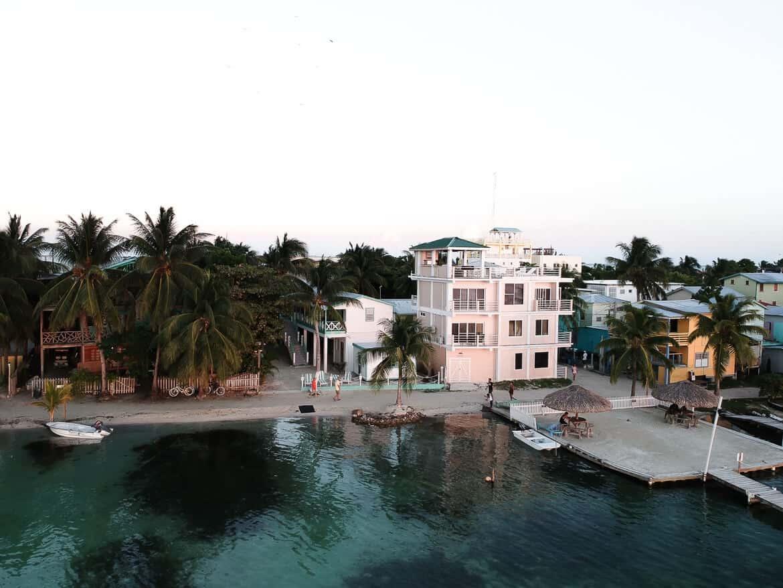 Belize Caye Caulker drone