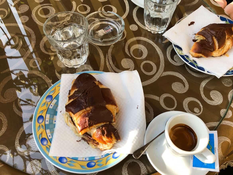 Pompeii Napels Chocolade Croissant