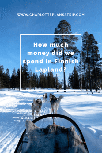 How much money did we spend traveling through Finnish Lapland?