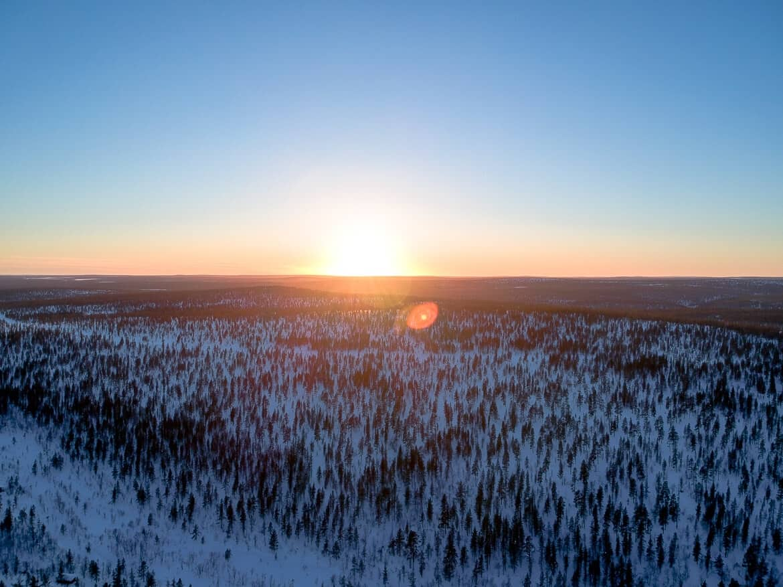Drone shot Lapland - Finland