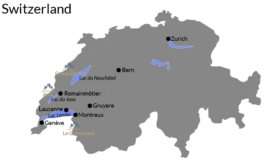 switzerland itinerary map