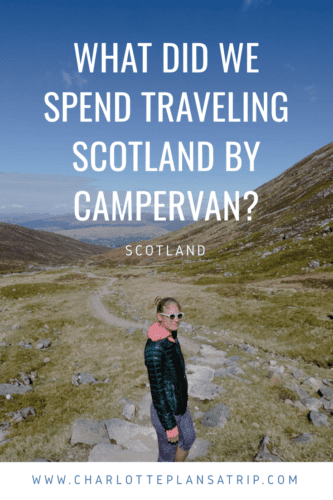 What did we spend traveling Scotland by campervan?