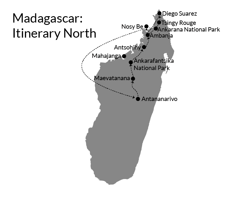 Madagascar itinerary north 2-weeks