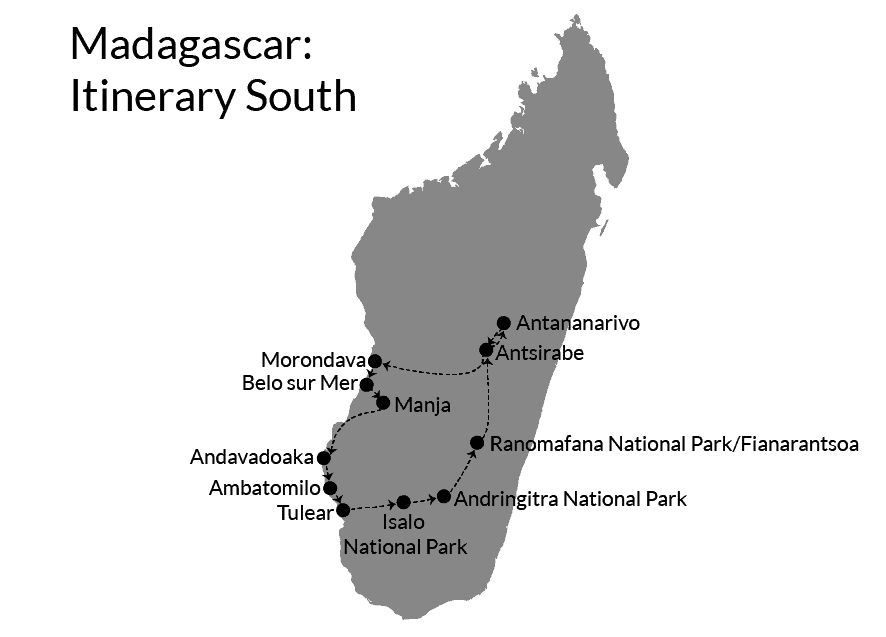 Madagascar South itinerary route three weeks