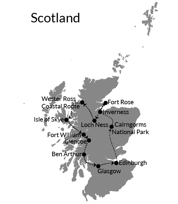 Scotland Itinerary two weeks or 14 days