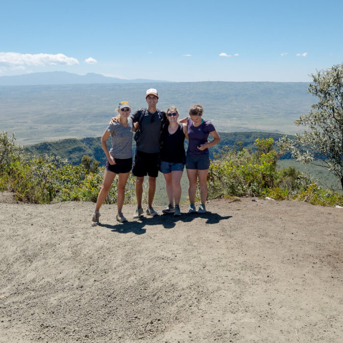 Mount Longonot Kenya hiking trail friends
