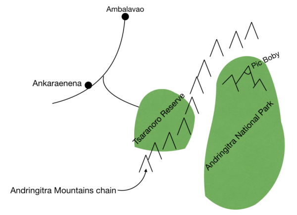 Andringitra Mountains Map