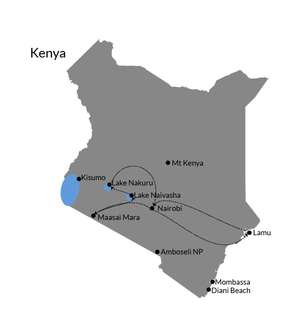 kenya route itinerary