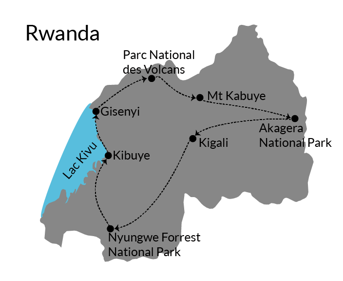 rwanda route itinerary
