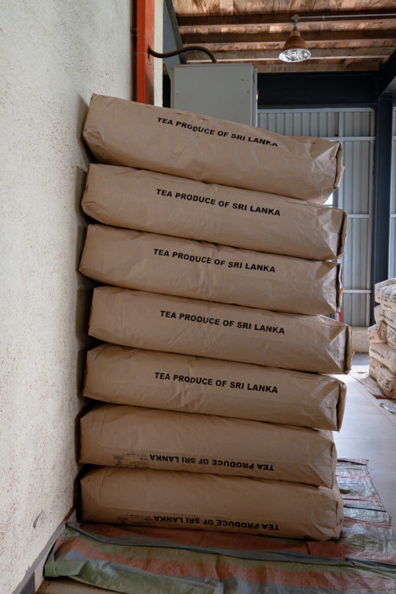 250kg of tea bags Nuwara Eliya