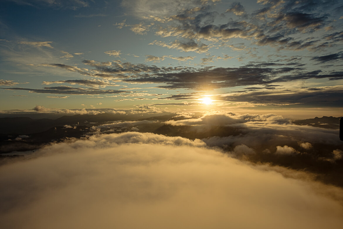Adam's Peak cloudy sunrise