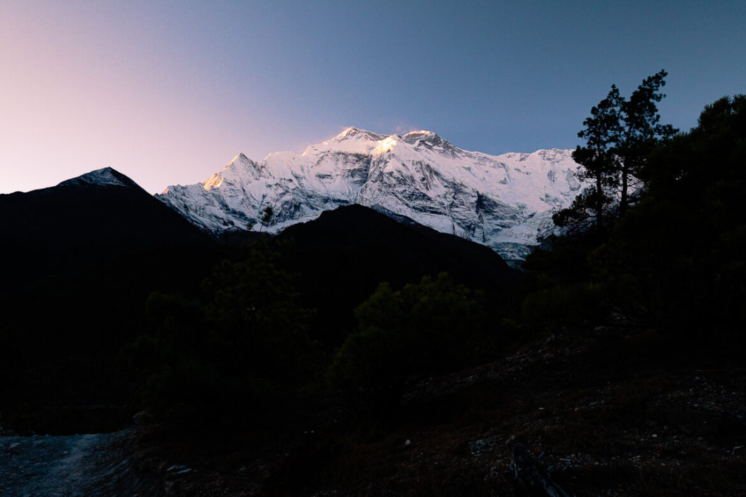 Annapurna Circuit hike sunrise