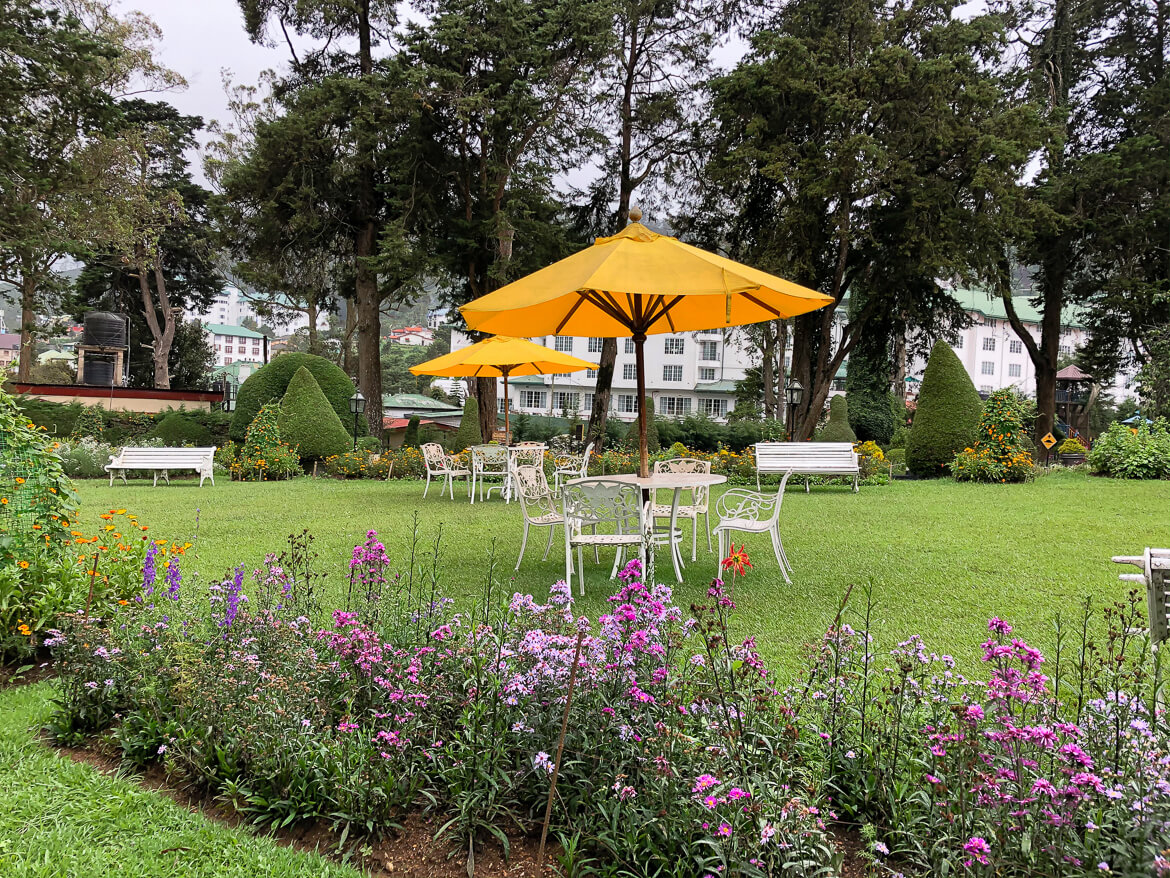 gardens of the grand hotel Nuwara Eliya