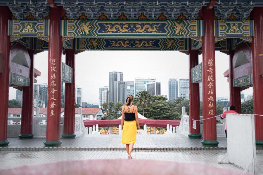 City view Thean Hou Temple Kuala Lumpur