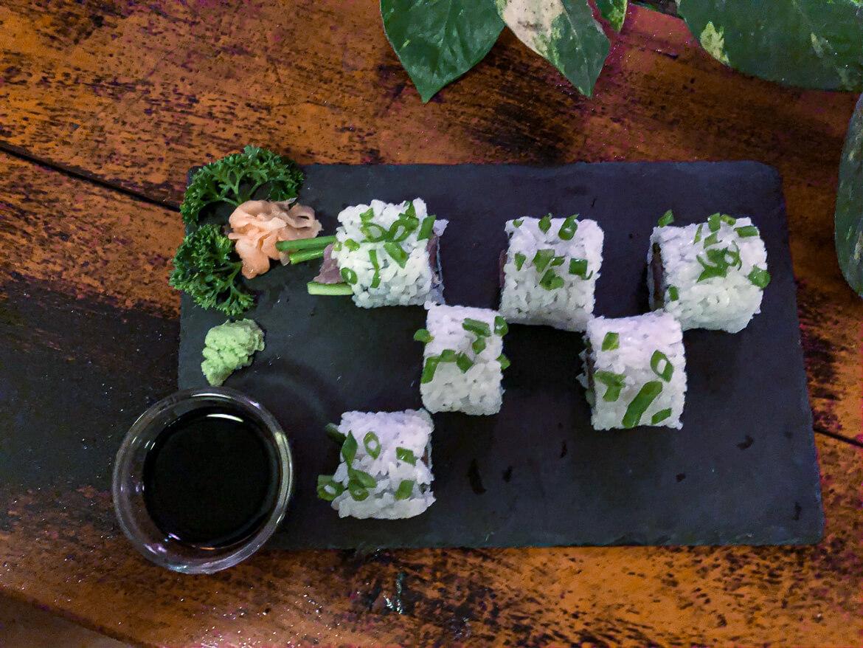 Fresh sushi at Little Tuna in Marissa