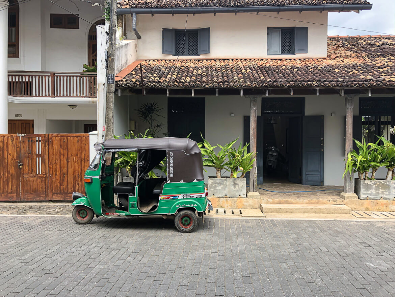 Galle street and tuktuk