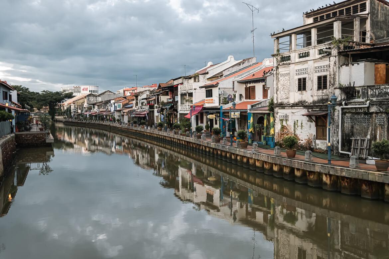 Malaysia Melaka Canal view