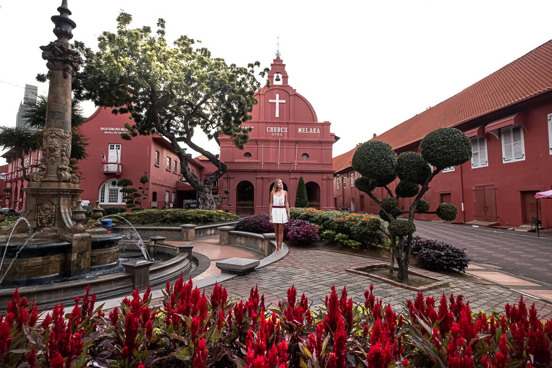 Malaysia Melaka Dutch Square red houses