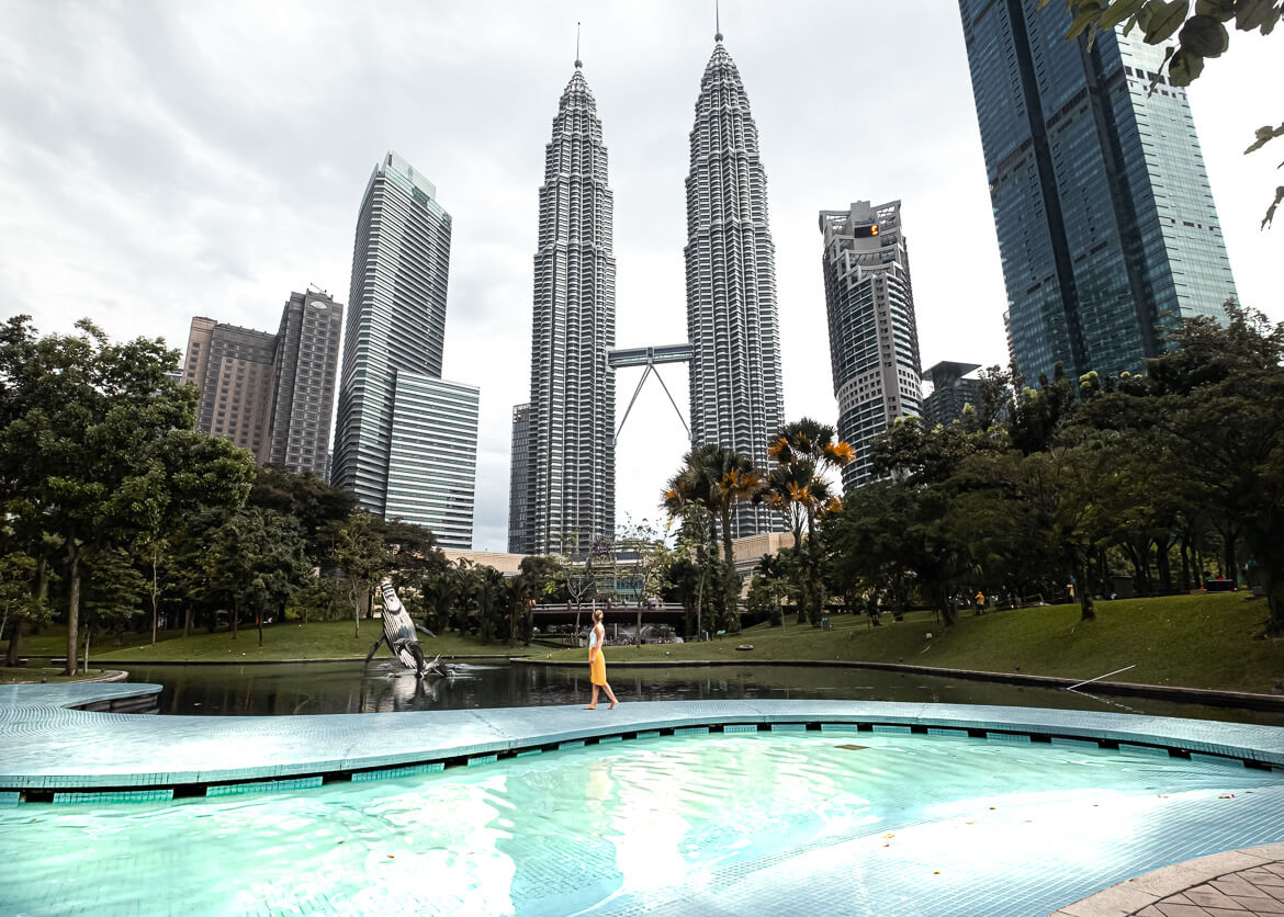Petronas Towers from poolview