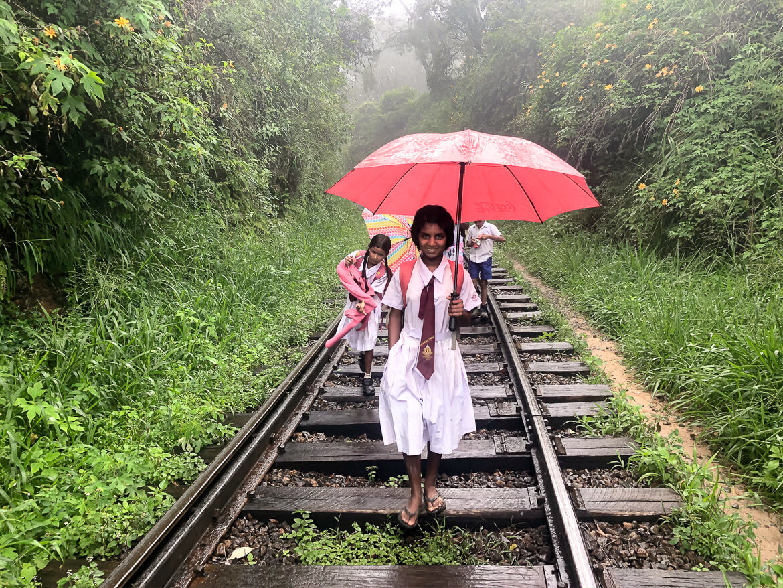 Walking on the railway Ella