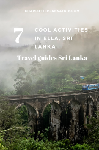 Seven cool things in Ella : travel guide for this beautiful place in Sri Lanka
