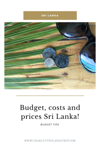 What does a trip trough Sri Lanka Cost? In this blog you will find all about prices, budget and costs of traveling through Sri Lanka.