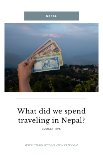 What did we spend traveling in Nepal? Budget list