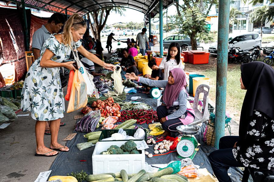 Buying groceries Kudat Sabah Malaysia