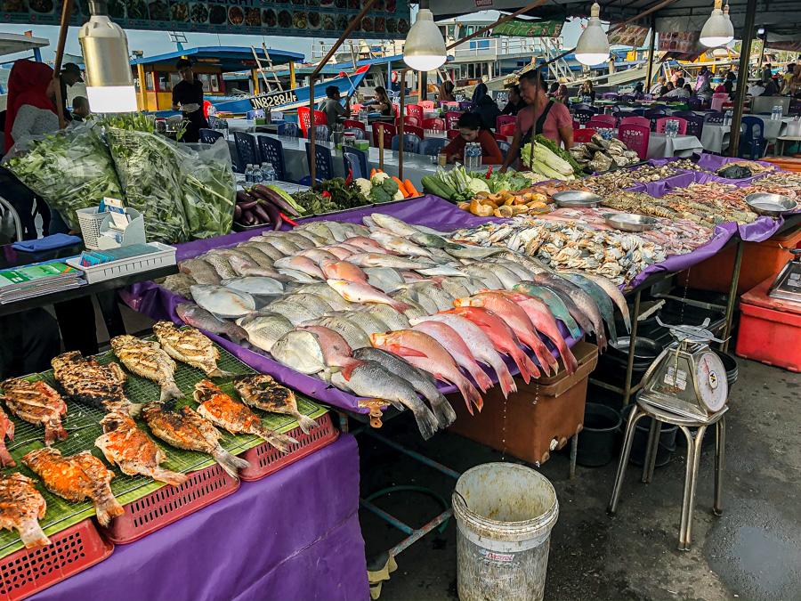 Catch of the day Kota Kinabalu Sabah Malaysia