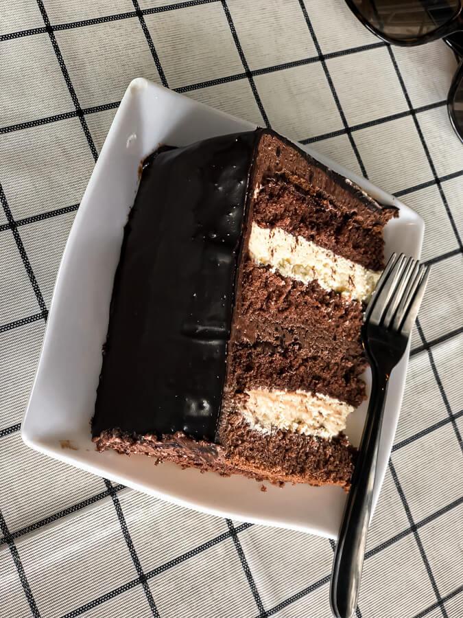 Chocolate Cake at Lavender Kudat Sabah Borneo Malaysia