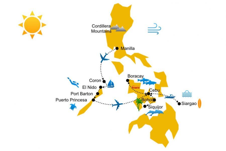 Hotel guide of the Philippines travel itinerary