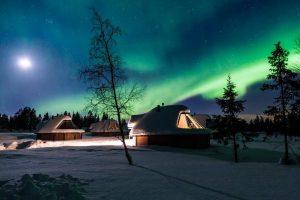 Levi Northern lights huts Finland