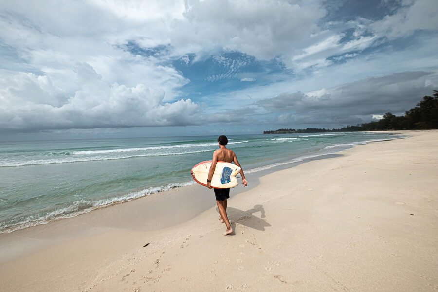 Ries Surfing at Kosuhui Beach Tip of Borneo Sabah Malaysia