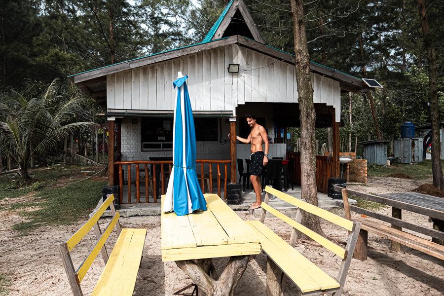 Secret beach bar Sabah Malaysia