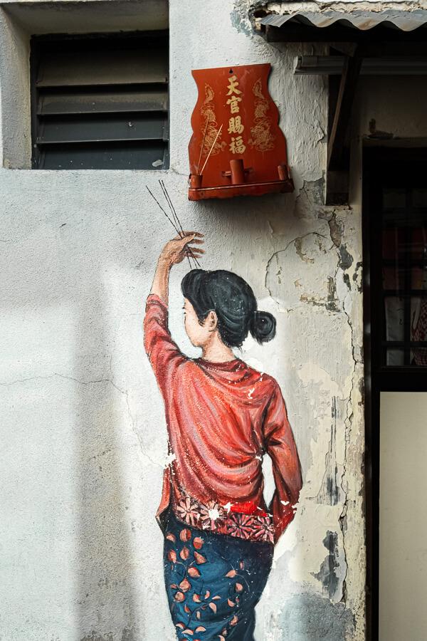 Street Art girl George Town Malaysia